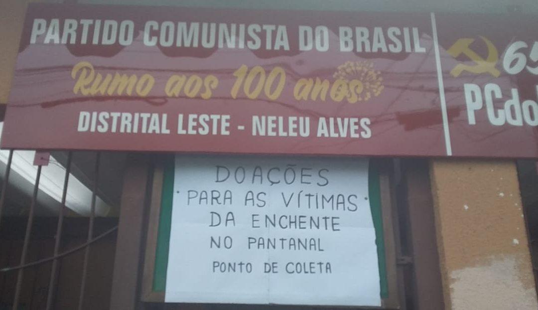 Distrital do PCdoB em São Miguel abre as portas para ajudar vítimas de enchente