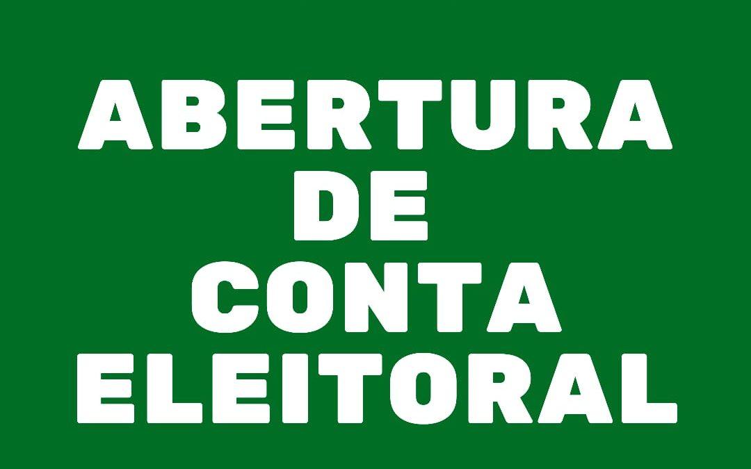 Órgãos partidários devem abrir conta eleitoral até 15 de agosto