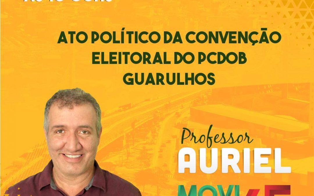 Convenção do PCdoB em Guarulhos oficializará Professor Auriel como pré-candidato a prefeito da cidade