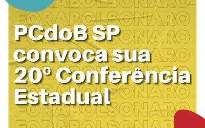 PCdoB SP convoca sua 20º Conferência Estadual
