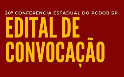PCdoB SP convoca sua 20ª Conferência Estadual